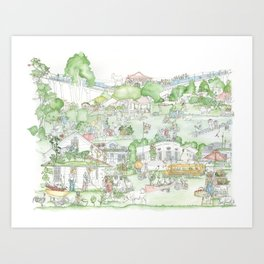 Suburban Farming Art Print
