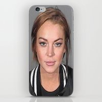 lindsay lohan iPhone & iPod Skins featuring Lindsay Lohan by Neon Monsters