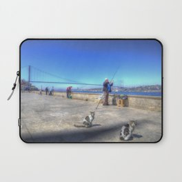 Fishermen And Cats Istanbul Laptop Sleeve