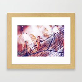 Dragonfly :: Twiggy Framed Art Print