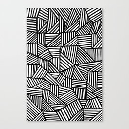 Black Brushstrokes Canvas Print