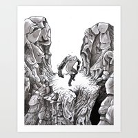 HERO CLIFF Art Print