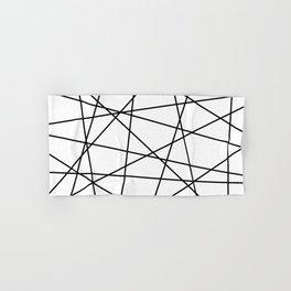 Geometric Lines (black/white) Hand & Bath Towel