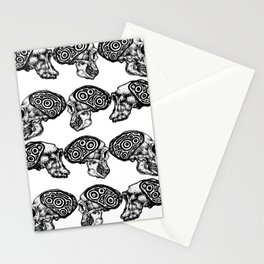 Skull Evolution Stationery Cards