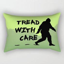 Tread With Care Rectangular Pillow