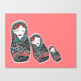 Sleeping Matrioska Canvas Print