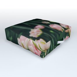 Blush Tulips By The Dozen Outdoor Floor Cushion