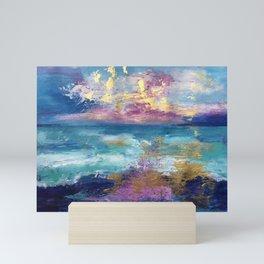Violet Waves Mini Art Print