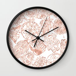 Mindfully Rose Gold Wall Clock