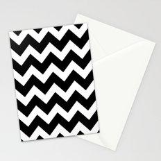 Chevron Black & White Stationery Cards