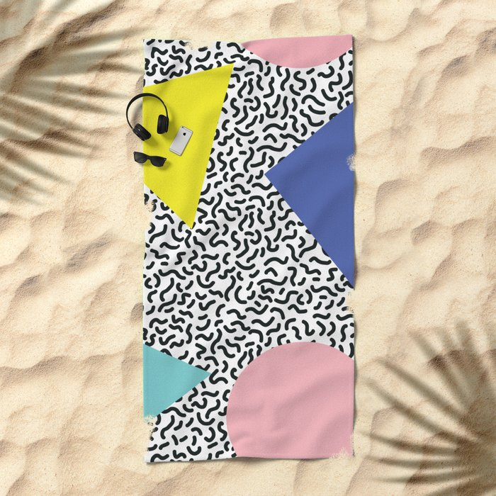 Memphis Pattern 1 Beach Towel