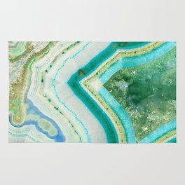 Sea Spray Crystal Agate Slice Rug