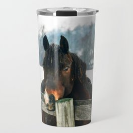 Thoughtful Horse Travel Mug