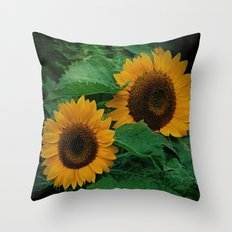 Sonnen Blumen  Throw Pillow