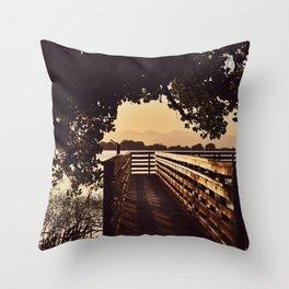 Colorado Pier Sunset Throw Pillow