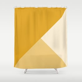 Mustard Tones Shower Curtain