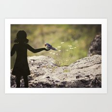 friends of a feather Art Print