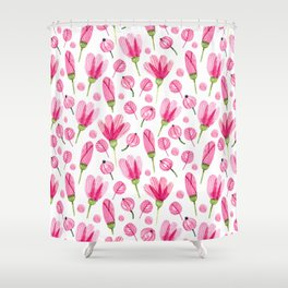 Pink flowers Nature Shower Curtain