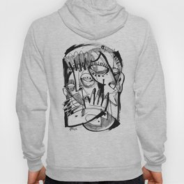Here for Each Other - b&w Hoody
