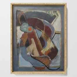 Mundy abstract oil painting Serving Tray