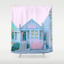 San Francisco Painted Lady Victorian House Shower Curtain