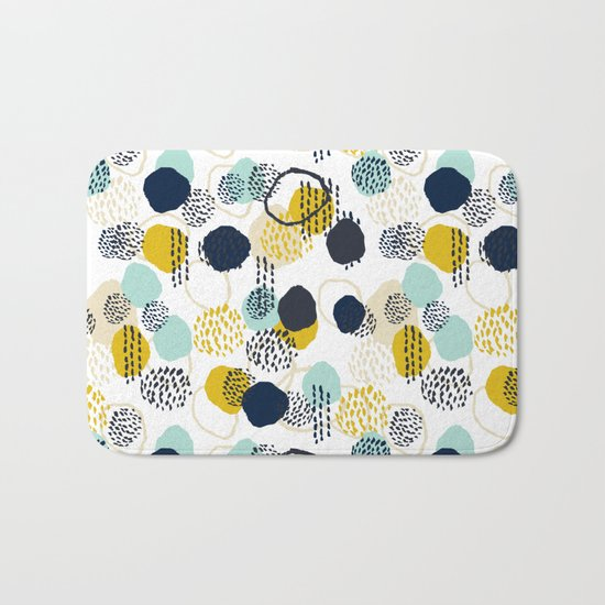 Jamm - abstract art painting brushstrokes modern minimal paint trendy colors hipster gender neutral  Bath Mat