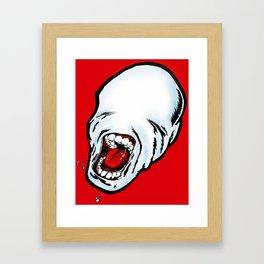 Screamer Red Framed Art Print