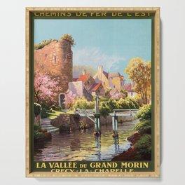 retro la vallée du grand morin   crecy - la - chapelle. 1924  Serving Tray