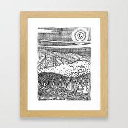Cabin on the Hill Framed Art Print