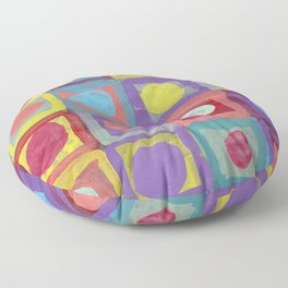 Circles and Squares Floor Pillow
