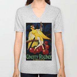 1922 Cherry Rocher Liquor Advertisement Poster by Paul Mohr Unisex V-Neck