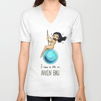 thorin V-neck T-shirts featuring ArkenBall Thorin by KuroCyou
