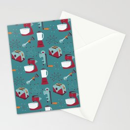 Retro Kitchen - Teal and Raspberry Stationery Cards