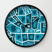 teen wolf Wall Clocks featuring Teen Wolf: A Summary by smartypants