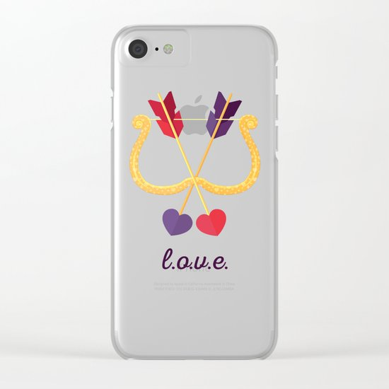 Take A Shot At L.O.V.E. Clear iPhone Case