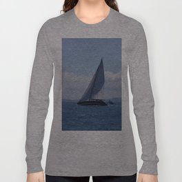 Modern Racing Yacht Long Sleeve T-shirt