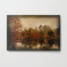 Autumn On The Lake Metal Print