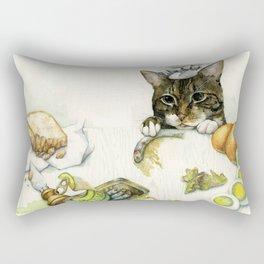 Caesar Salad Rectangular Pillow