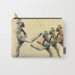 Vintage Made Modern: Dancing Abstract Woman Carry-All Pouch