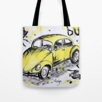 bugs Tote Bags featuring bugs by sladja