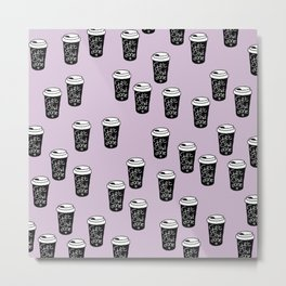 Get shit done coffee cups to go ladyboss girl power lilac Metal Print