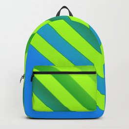 Sky & Lime Chevron Backpack