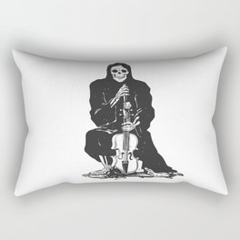 Violinist skull - grim reaper - cartoon skeleton - halloween illustration Rectangular Pillow