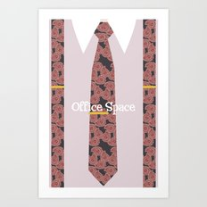 Office Space Minimal 03 Art Print
