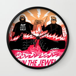 Run Them Jewels Fast Wall Clock