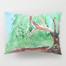 """Deer - Animal - """"Time to relax"""" - by LiliFlore Pillow Sham"""