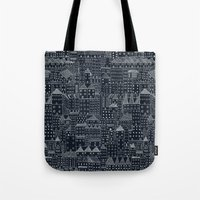 rubyetc Tote Bags featuring city at night by rubyetc