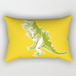 Dino Pop Art - T-Rex - Yellow & Olive Rectangular Pillow