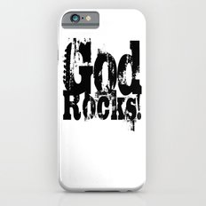 God Rocks in distressed times! (on white version)  iPhone 6s Slim Case