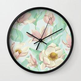 magnolia bloom - fairy version Wall Clock